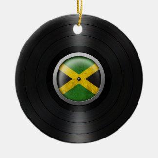 Jamaican Flag Vinyl Record Album Graphic Ornament