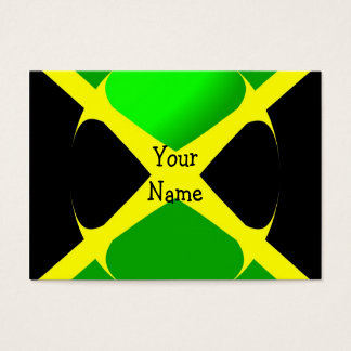 Jamaican Flag With Bubble Business Card