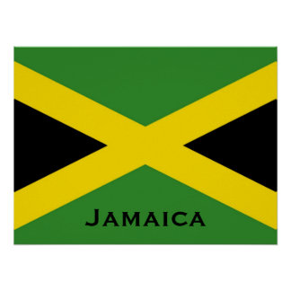 Jamaican map and flag wall decor