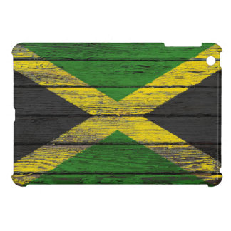 Jamaican Flag with Rough Wood Grain Effect Case For The iPad Mini
