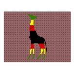 jamaican giraffe postcard