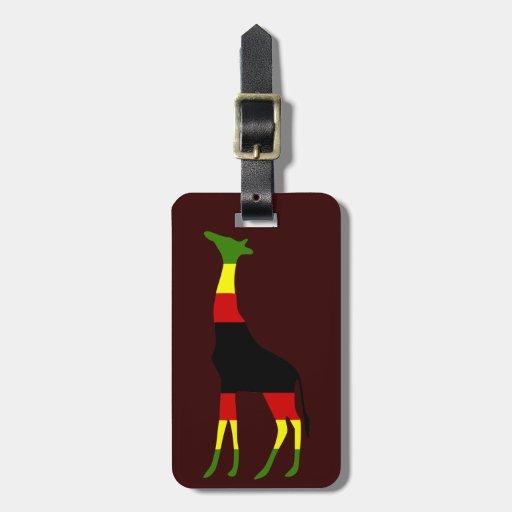 jamaican giraffe travel bag tag