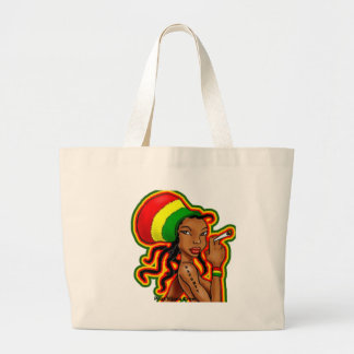 jamaican girl jumbo tote bag