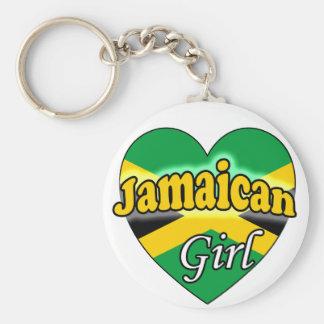 Jamaican Girl Basic Round Button Keychain