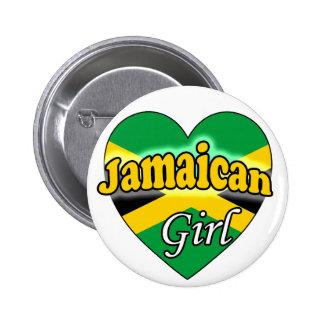 Jamaican Girl 2 Inch Round Button