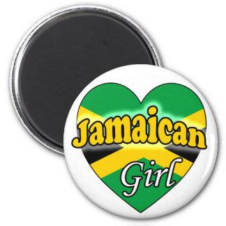Jamaican Girl 2 Inch Round Magnet
