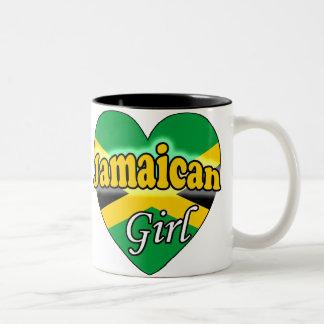 Jamaican Girl Two-Tone Coffee Mug