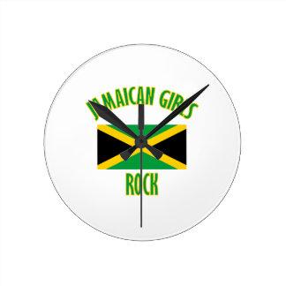 Jamaican girls DESIGNS Round Clock