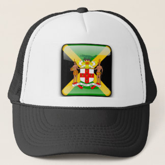 Jamaican glossy flag trucker hat