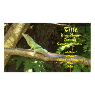 Jamaican Green Lizard Double-Sided Standard Business Cards (Pack Of 100)