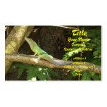 Jamaican Green Lizard Business Cards