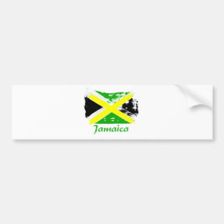 Jamaican grunge flag designs bumper stickers