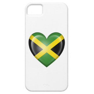 Jamaican Heart Flag on White iPhone 5 Cases
