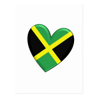 Jamaican Heart Flag Postcard