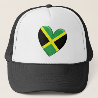 Jamaican Heart Flag Trucker Hat