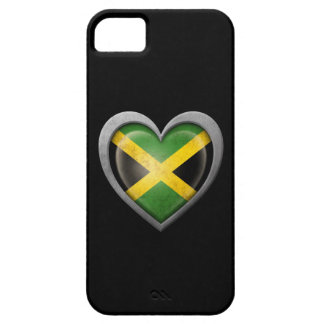 Jamaican Heart Flag with Metal Effect iPhone 5 Covers