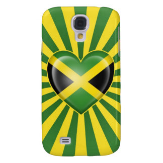 Jamaican Heart Flag with Star Burst Galaxy S4 Covers