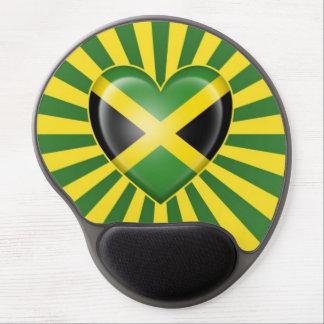 Jamaican Heart Flag with Star Burst Gel Mouse Pad