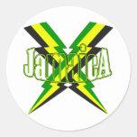 Jamaican Lightening Bolt Sticker
