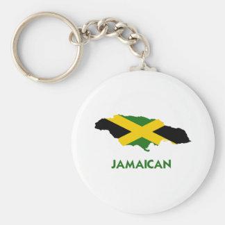 JAMAICAN MAP BASIC ROUND BUTTON KEYCHAIN