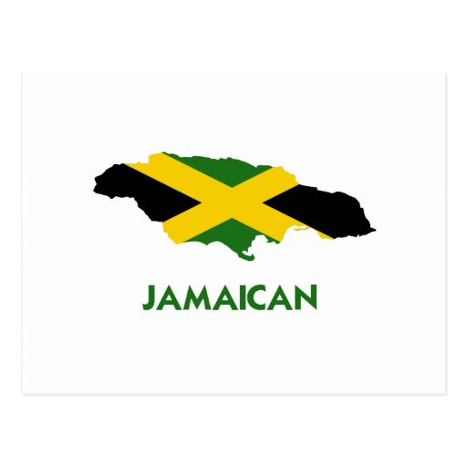 JAMAICAN MAP POSTCARDS