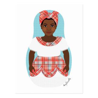 Jamaican Matryoshka Postcard