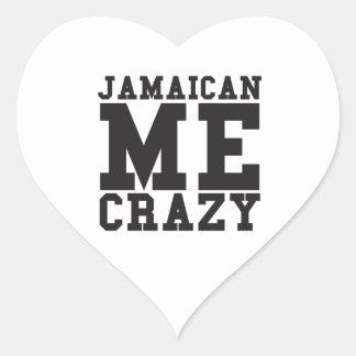 Jamaican Me Crazy Heart Sticker