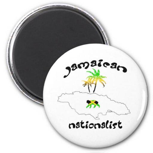 Jamaican Nationalist Logo 2 Inch Round Magnet