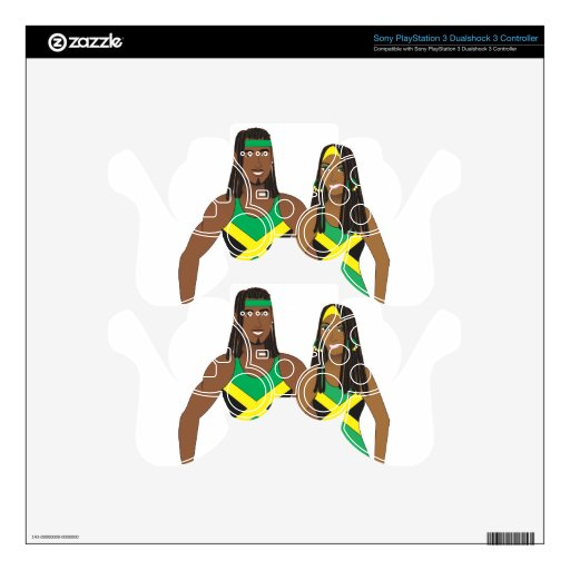 Jamaican People.ai PS3 Controller Skin