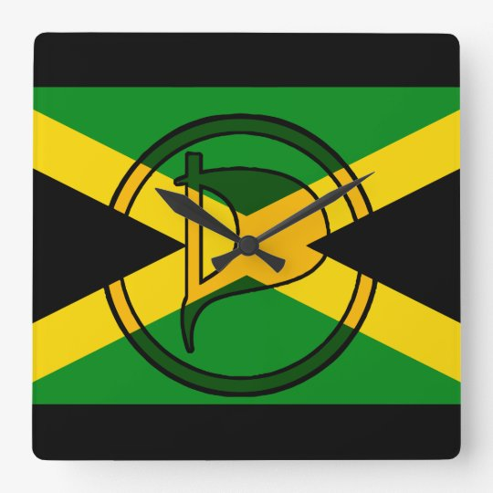 Jamaican pirate party flag Wall Clock