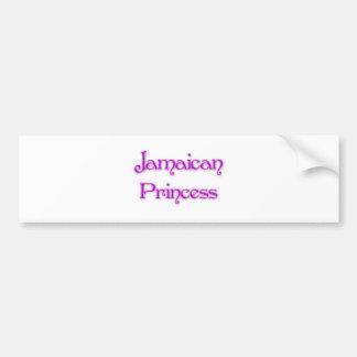 Jamaican Princess Bumper Sticker