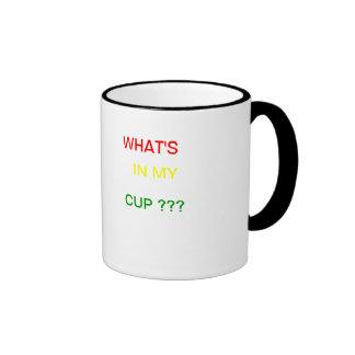 Jamaican rasta desing ringer coffee mug