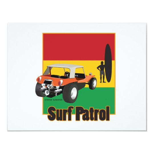 Jamaican Rasta Surfpatrol Buggy Card