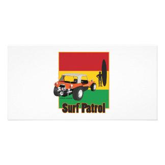 Jamaican Rasta Surfpatrol Buggy Photo Card Template