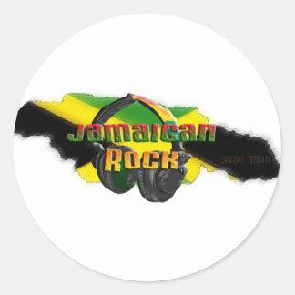 Jamaican Rock Classic Round Sticker