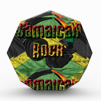 Jamaican Rock Flag Range Acrylic Award