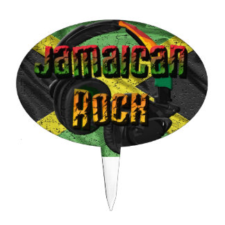 Jamaican Rock Flag Range Cake Topper
