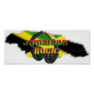 Jamaican Rock Poster