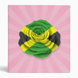 Jamaican Rose Flag on Pink Binders