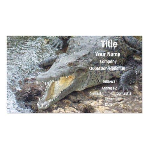 Jamaican Salt Water Crocodile Business Card