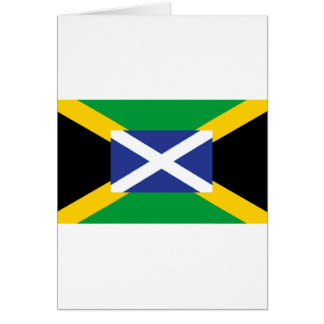 Jamaican Scottish Flag - Jamaica - Scotland Card