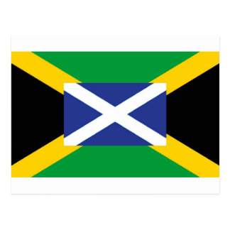 Jamaican Scottish Flag - Jamaica - Scotland Postcard