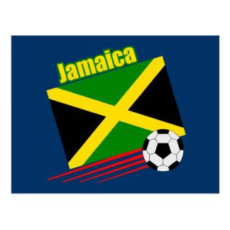 Jamaican Soccer Team Postcard