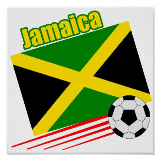 Jamaican Soccer Team Poster