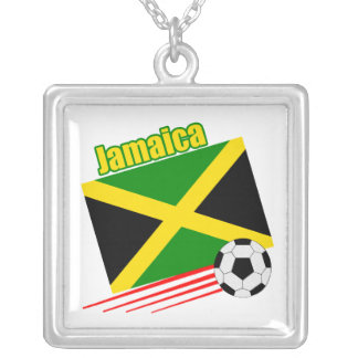 Jamaican Soccer Team Silver Plated Necklace