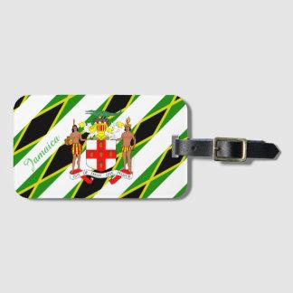 Jamaican stripes flag bag tag