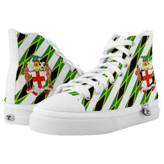 Jamaican canvas shoes printed shoes zazzle jamaican stripes flag high top sneakers voltagebd Gallery