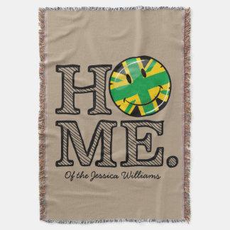 Jamaican Style Union Jack Flag Throw Blanket
