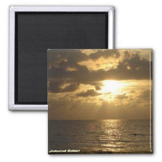 Jamaican Sunset Refrigerator Magnets