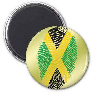 Jamaican touch fingerprint flag 2 inch round magnet